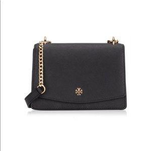 Tory Burch Emerson Mini Shoulder Bag Black NWT